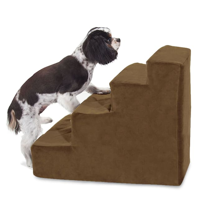Majestic Pet Products 4-Step Chocolate Suede Pet Stairs - Carousel image #1