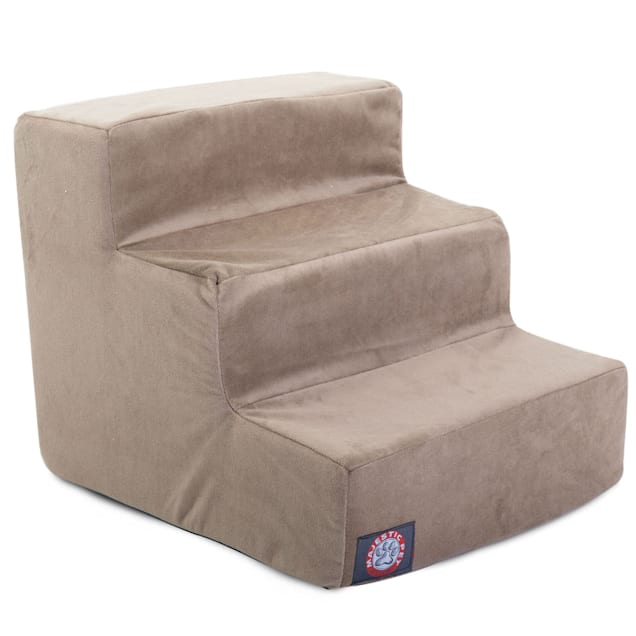 Majestic Pet Products 3-Step Stone Suede Pet Stairs - Carousel image #1