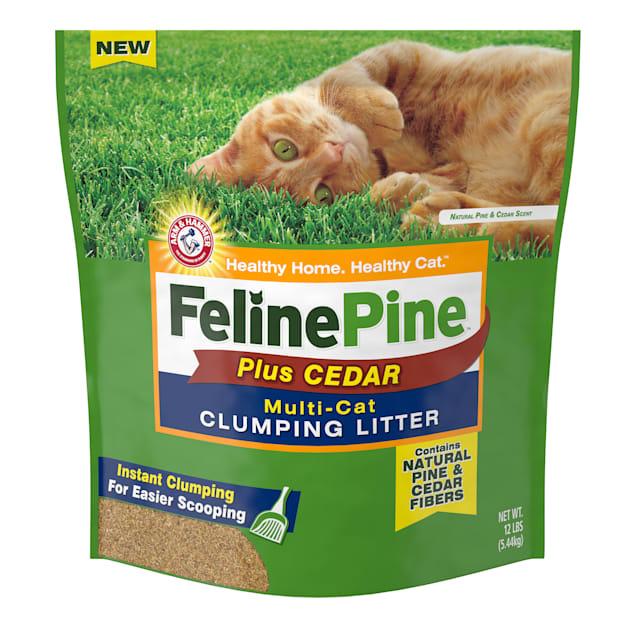 Feline Pine Plus Cedar Natural Clumping Litter, 12 lbs. - Carousel image #1