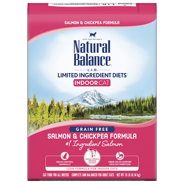 Natural Balance L.I.D. Limited Ingredient Diets Salmon & Chickpea Formula Dry Cat Food, 10 lbs. - Carousel image #1