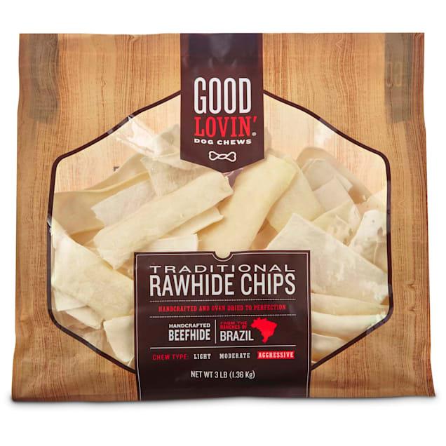 Good Lovin' Traditional Rawhide Chip Dog Chews, 3 lbs. - Carousel image #1