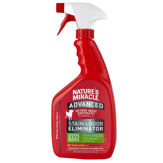 Nature's Miracle Lemon Scented Advanced Stain & Odor Remover, 32 fl. oz. - Carousel image #1
