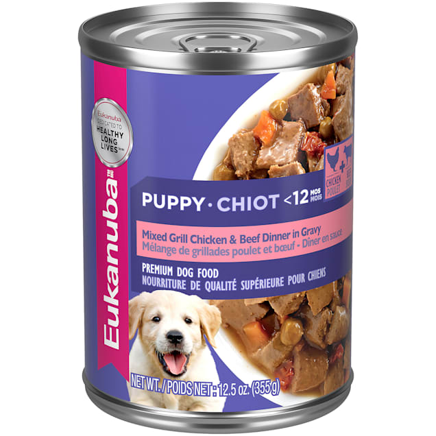 Eukanuba Mixed Grill with Chicken & Beef Cuts in Gravy Canned Puppy Food, 12.5 oz., Case of 12 - Carousel image #1