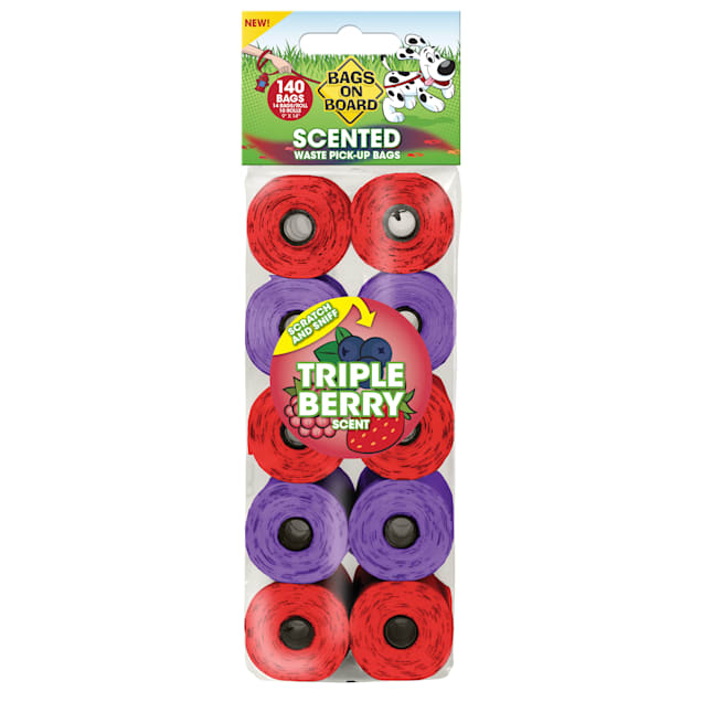 Bags on Board Triple Berry Scented Refill Bags, 140 count - Carousel image #1