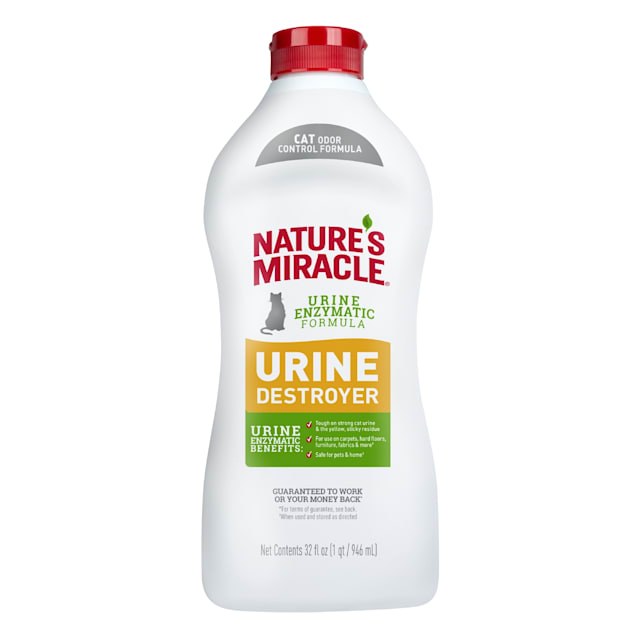 Nature's Miracle New Odor Control Formula Urine Destroyer for Cats, 32 fl. oz. - Carousel image #1