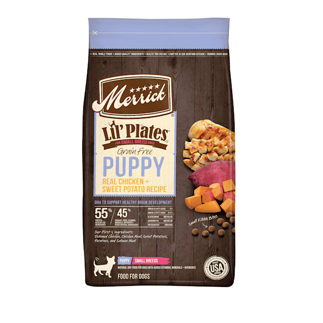 Merrick Lil' Plates Grain Free Real Chicken + Sweet Potato Recipe Small Breed Dry Puppy Food, 12 lbs. - Carousel image #1