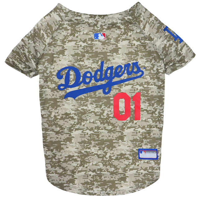 Pets First Los Angeles Dodgers Camo Jersey, X-Small - Carousel image #1