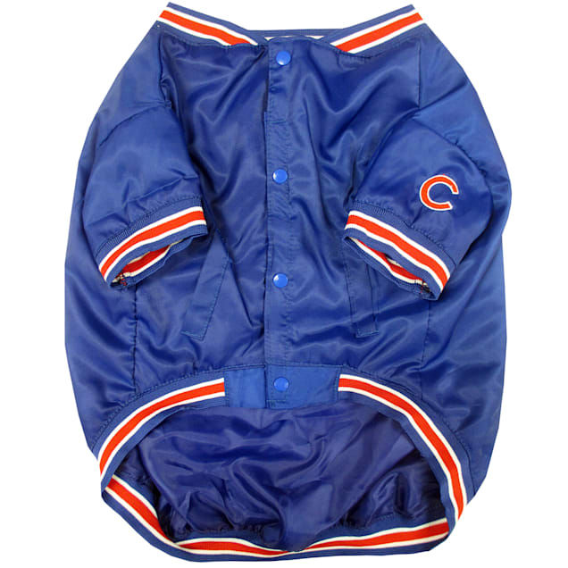 Pets First Chicago Cubs Dugout Jacket, Small - Carousel image #1