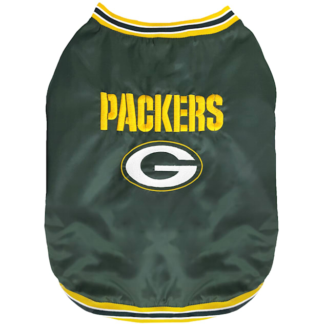 Pets First Green Bay Packers Dugout Jacket, Small - Carousel image #1