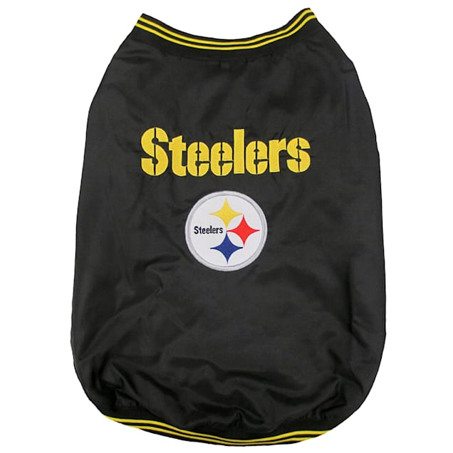 Pets First Pittsburgh Steelers Dugout Jacket, Small - Carousel image #1