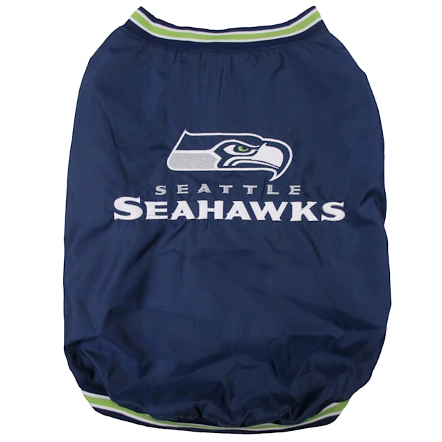 Pets First Seattle Seahawks Dugout Jacket, Small - Carousel image #1