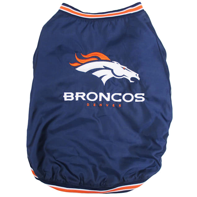 Pets First Denver Broncos Dugout Jacket, Small - Carousel image #1