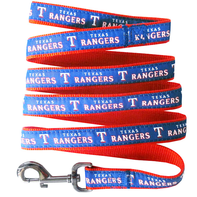 Pets First Texas Rangers Leash, Small - Carousel image #1