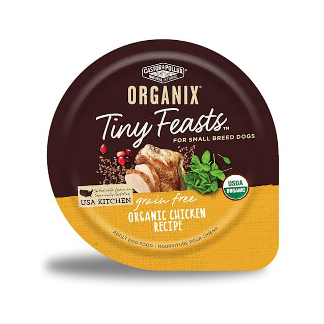 Castor & Pollux Organix Tiny Feasts Grain Free Organic Chicken Recipe Wet Dog Food, 3.5oz., case of 12 - Carousel image #1