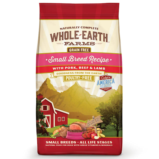 Whole Earth Farms Grain Free Small Breed Recipe with Pork, Beef & Lamb Dry Dog Food, 12 lbs. - Carousel image #1