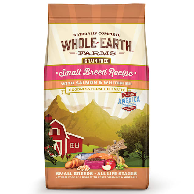 Whole Earth Farms Grain Free Small Breed Recipe with Salmon & Whitefish Dry Dog Food, 12 lbs. - Carousel image #1