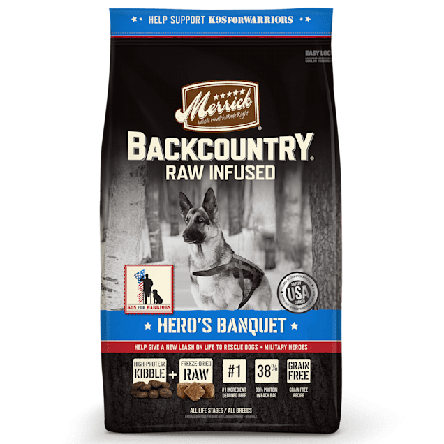 Merrick Backcountry Grain Free Hero's Banquet Dry Dog Food, 12 lbs. - Carousel image #1