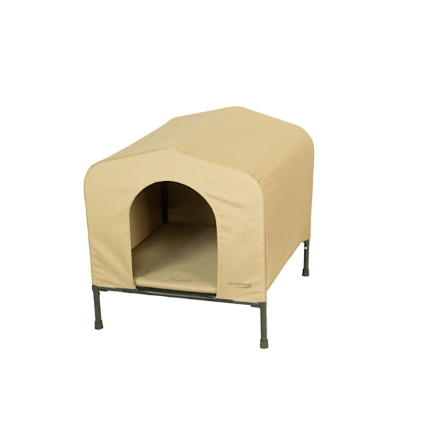 PortablePET Khaki HoundHouse Kennel and Shelter, Large - Carousel image #1