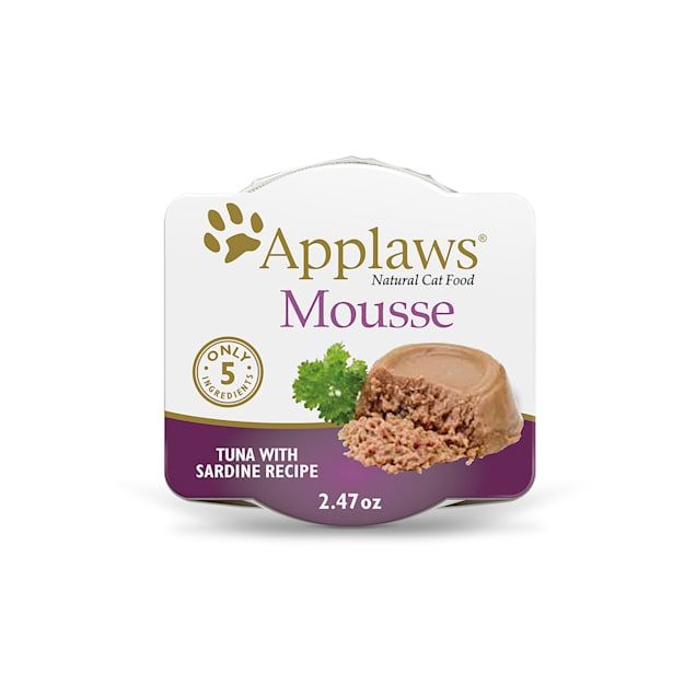 Applaws Natural Mousse Tuna with Sardine Wet Cat Food, 2.47 oz., Case of 12 - Carousel image #1