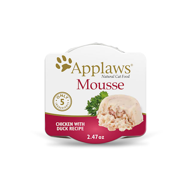 Applaws Natural Mousse Chicken with Duck Wet Cat Food, 2.47 oz., Case of 12 - Carousel image #1