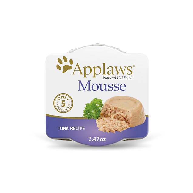 Applaws Natural Mousse Tuna with Seaweed Wet Cat Food, 2.47 oz., Case of 12 - Carousel image #1