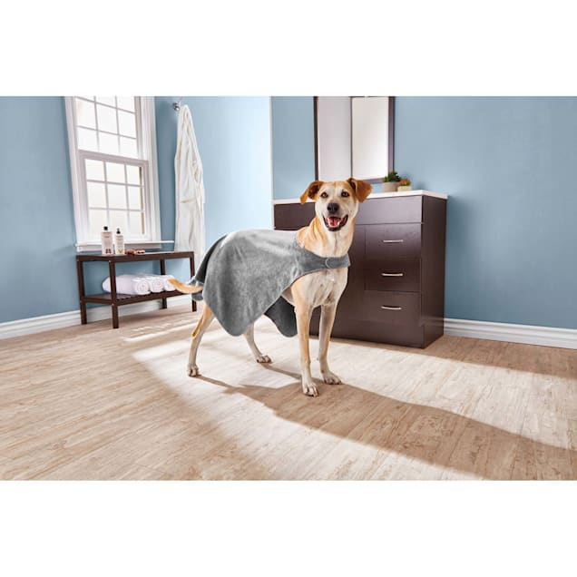 Well & Good Plush Drying Cape Towel for Dogs, Large - Carousel image #1