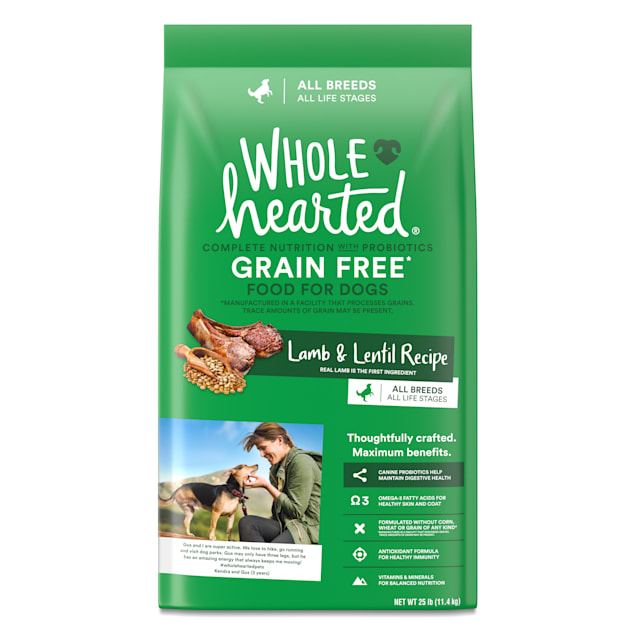 WholeHearted Grain Free All Life Stages Lamb and Lentil Formula Dry Dog Food, 25 lbs. - Carousel image #1