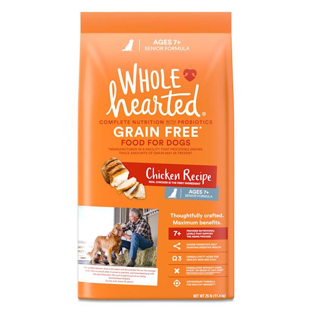 WholeHearted Grain Free Senior Chicken Recipe Dry Dog Food, 25 lbs. - Carousel image #1