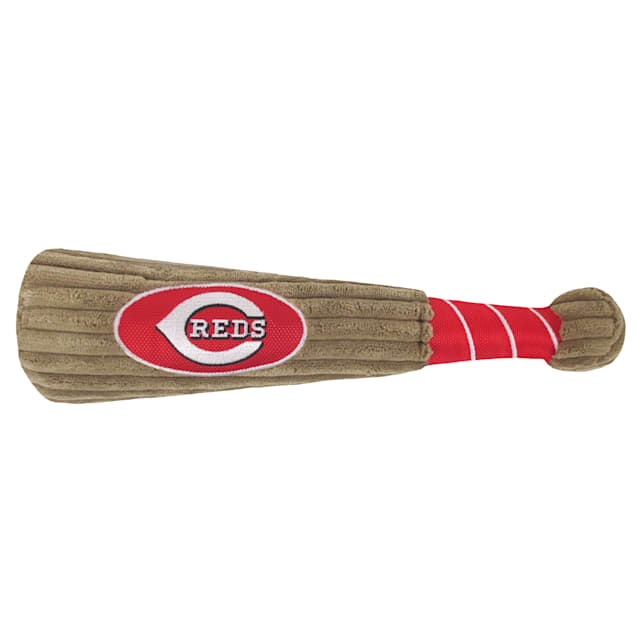 Pets First Official MLB Cincinnati Reds Baseball Bat Toy, XLarge - Carousel image #1
