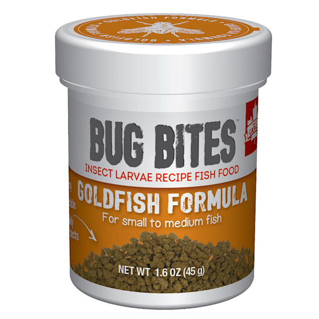 Fluval Bug Bites Granules for Small-Medium Goldfish., 1.59 oz - Carousel image #1