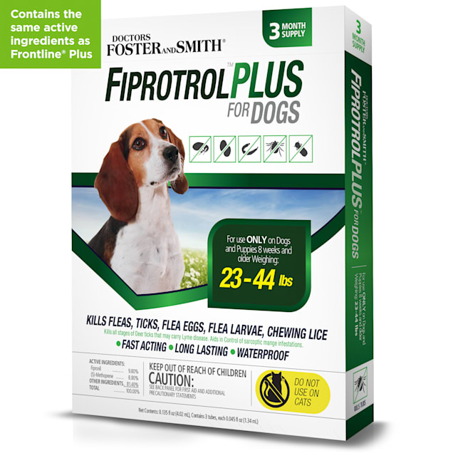Doctors Foster + Smith Fiprotrol Topical Flea & Tick Control For Dogs 23 to 44 lbs., 2 Packs of 3 - Carousel image #1