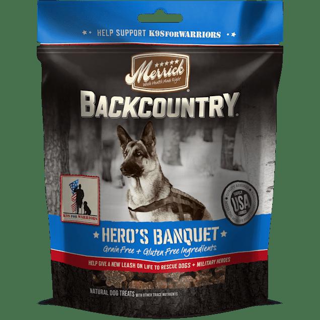 Merrick Backcountry Grain Free Hero's Banquet Dog Treats, 6 oz. - Carousel image #1