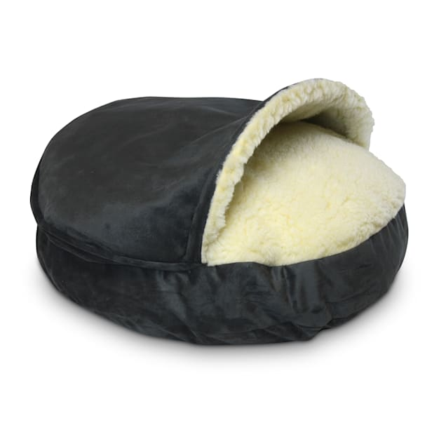 "Snoozer Luxury Micro Suede Cozy Cave Pet Bed in Anthracite, 35"" L x 35"" W - Carousel image #1"