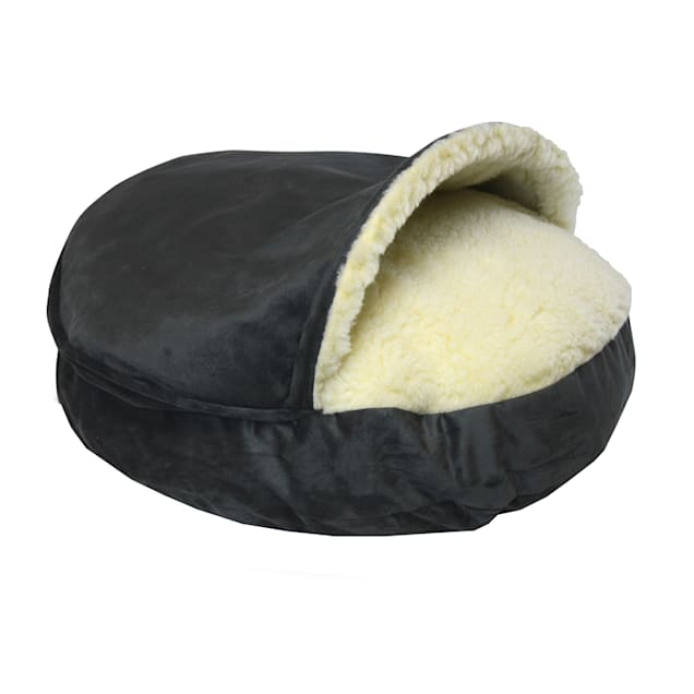 "Snoozer Orthopedic Luxury Micro Suede Cozy Cave Pet Bed in Anthracite, 35"" L x 35"" W - Carousel image #1"