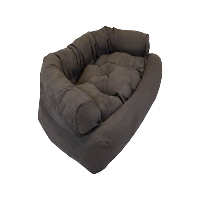 "Snoozer Luxury Micro Suede Overstuffed Pet Sofa in Dark Brown, 30"" L x 40"" W - Carousel image #1"