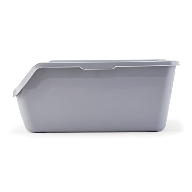 "So Phresh Scatter Shield High-Back Litter Box in Gray, 24"" L X 18"" W X 10"" H - Carousel image #1"