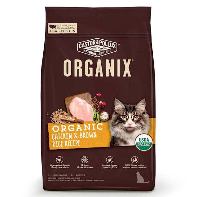 Castor & Pollux Organix Chicken & Brown Rice Recipe Dry Cat Food, 10 lbs. - Carousel image #1