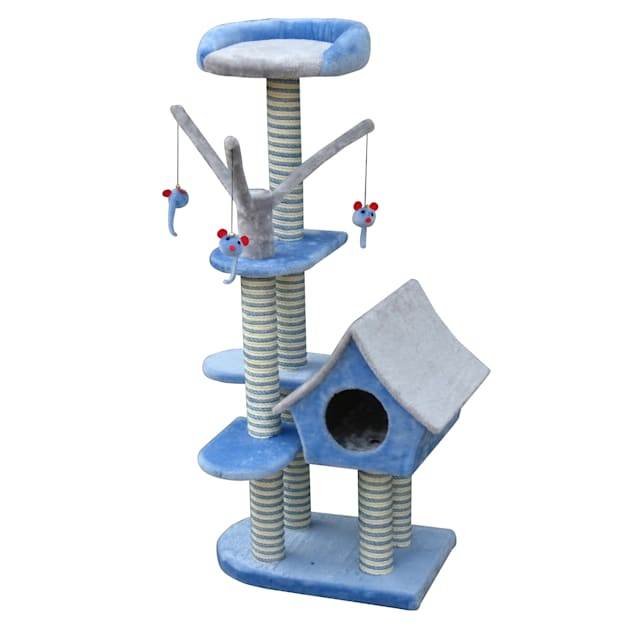 """Penn Plax Cottage Activity Tower, 50""""H - Carousel image #1"""
