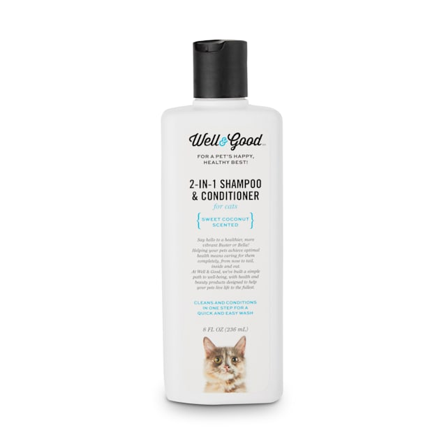 Well & Good 2-in-1 Shampoo and Conditioner for Cats, 8 fl. oz. - Carousel image #1