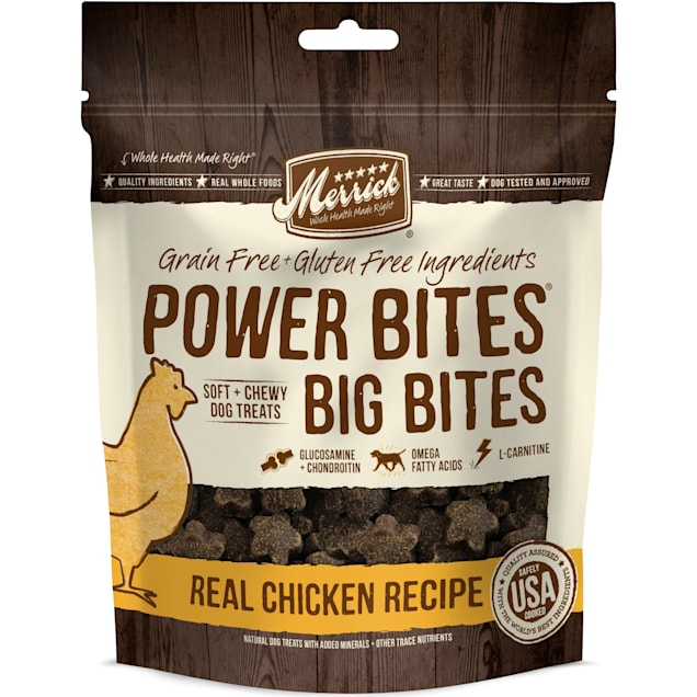 Merrick Power Bites Big Bites Real Chicken Recipe Dog Treats, 6 oz. - Carousel image #1