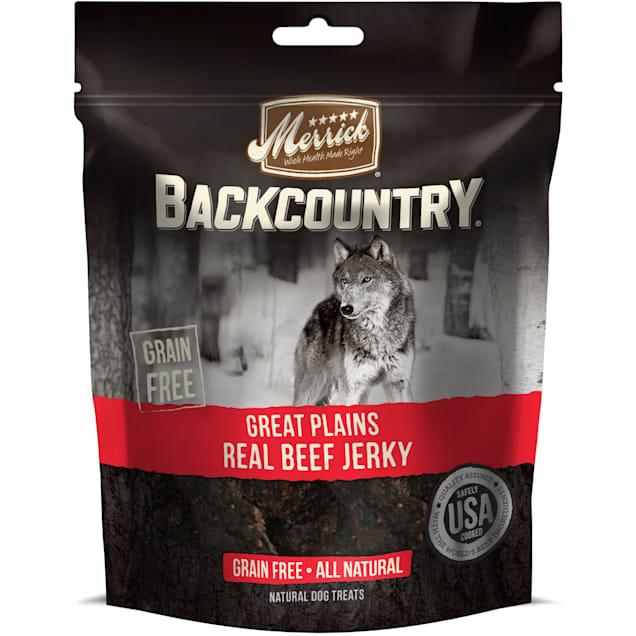 Merrick Backcountry Great Plains Real Beef Jerky Grain Free Dog Treats, 4.5 oz. - Carousel image #1