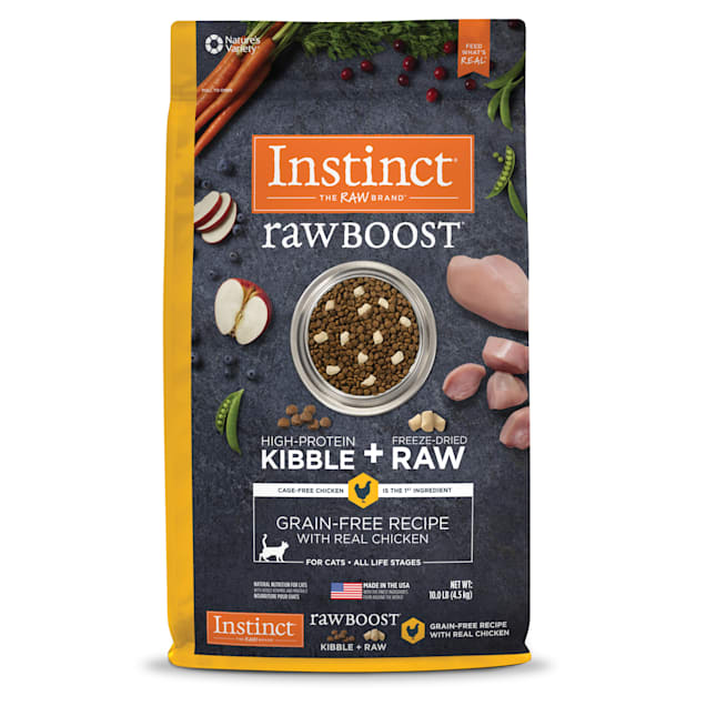 Instinct Raw Boost Grain-Free Recipe with Real Chicken Dry Cat Food with Freeze-Dried Raw Pieces, 10 lbs. - Carousel image #1