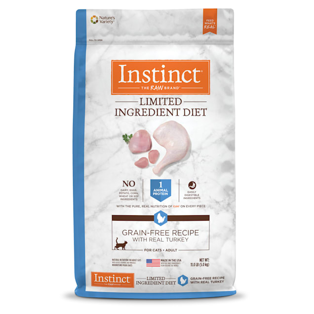 Instinct Limited Ingredient Diet Grain-Free Recipe with Real Turkey Freeze-Dried Raw Coated Dry Cat Food, 11 lbs. - Carousel image #1