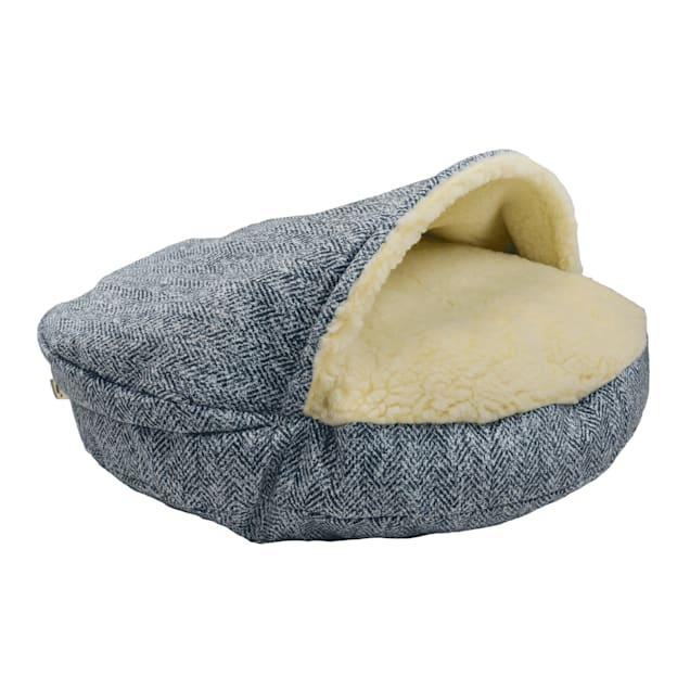 "Snoozer Premium Micro Suede Cozy Cave Pet Bed in Palmer Indigo, 35"" L x 35"" W - Carousel image #1"