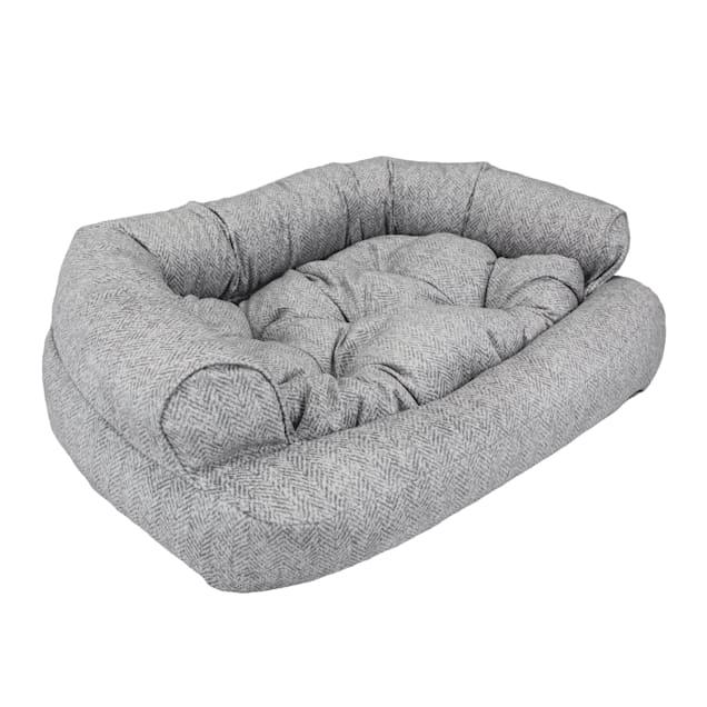 "Snoozer Luxury Overstuffed Pet Sofa in Palmer Dove, 30"" L x 40"" W - Carousel image #1"