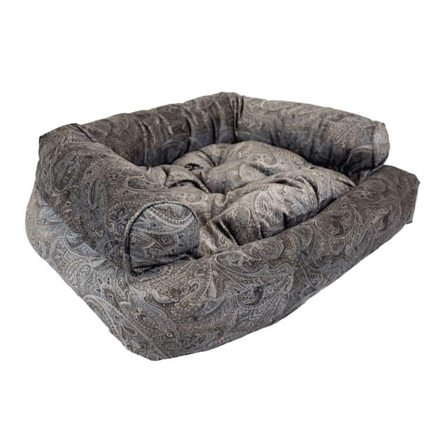 "Snoozer Luxury Overstuffed Pet Sofa in Laurel Mocha, 30"" L x 40"" W - Carousel image #1"