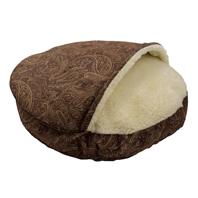 """Snoozer Premium Micro Suede Cozy Cave Pet Bed in Red, 35"""" L x 35"""" W - Carousel image #1"""