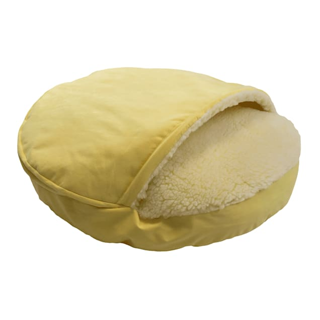 "Snoozer Orthopedic Luxury Cozy Cave Pet Bed in Lemon, 35"" L x 35"" W - Carousel image #1"