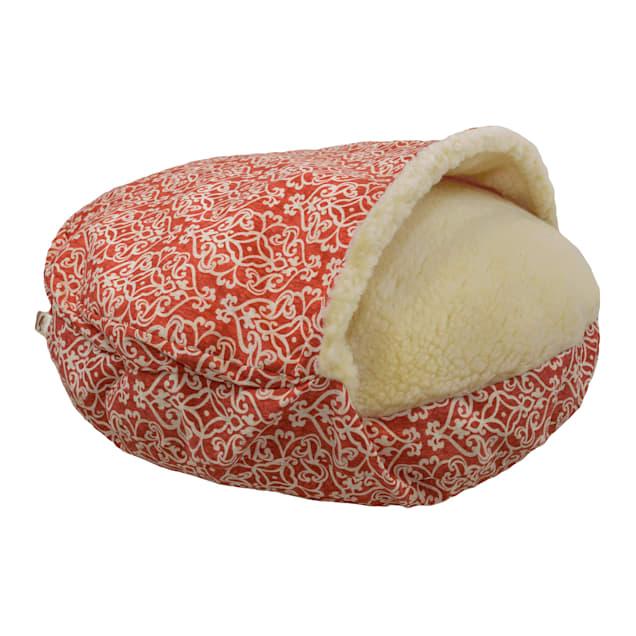 "Snoozer Indoor Outdoor Cozy Cave Pet Bed in Gondola Salmon, 35"" L x 35"" W - Carousel image #1"