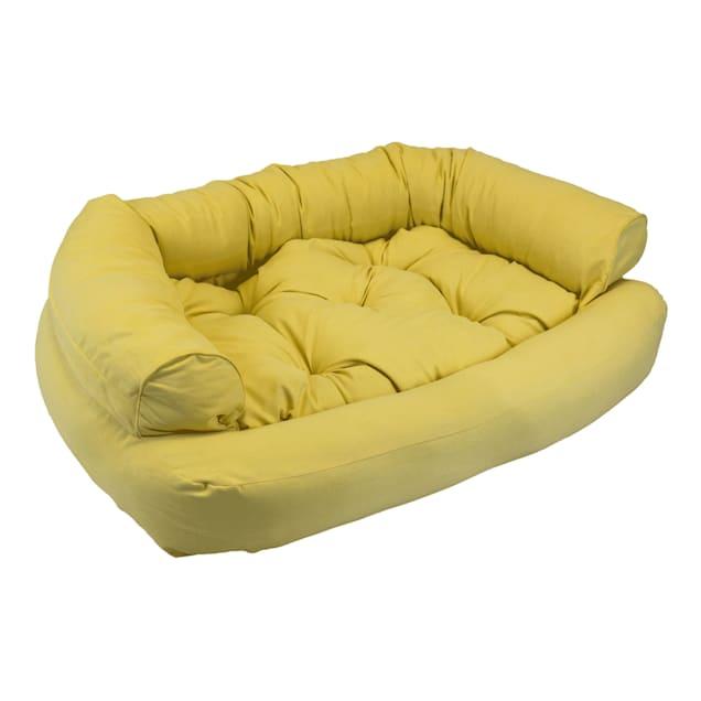 "Snoozer Luxury Overstuffed Pet Sofa in Lemon, 30"" L x 40"" W - Carousel image #1"